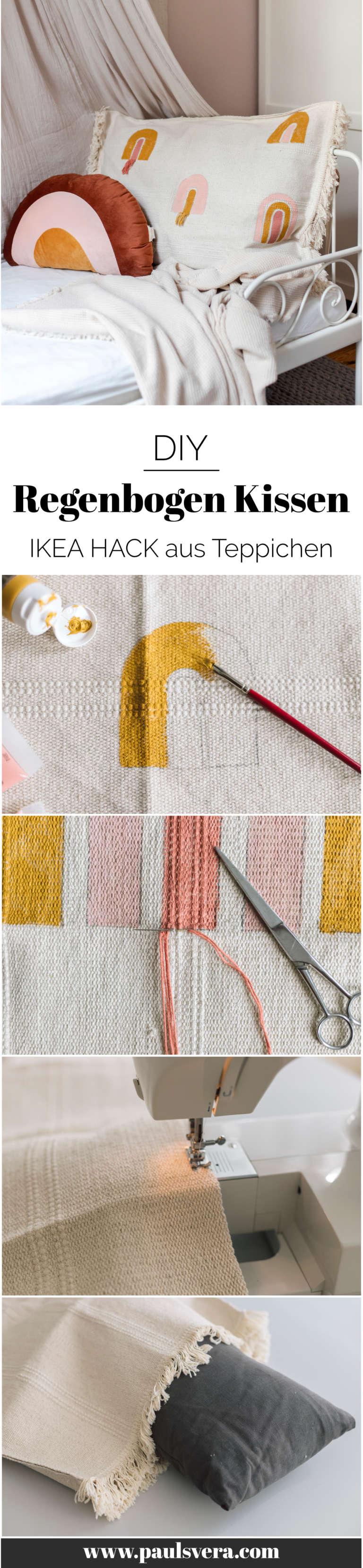 Ikea Hack Teppich Kissen Regenbogen Kinderzimmer Selber Machen Bodenkissen