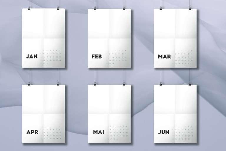 Kalender 2017 Mockup