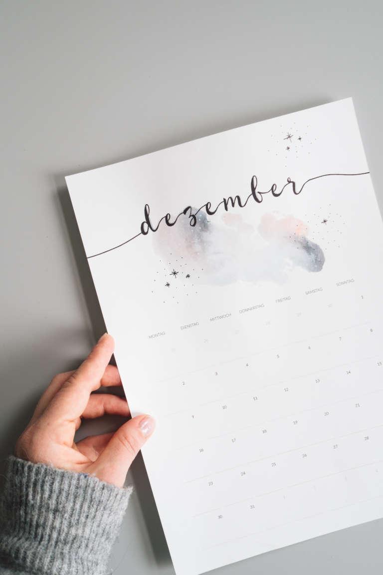 Kalender 2019 Printables Zum Ausdrucken Freebie Edding Aquarell Wasserfarben Modern Minimalistisch Paulsvera 21