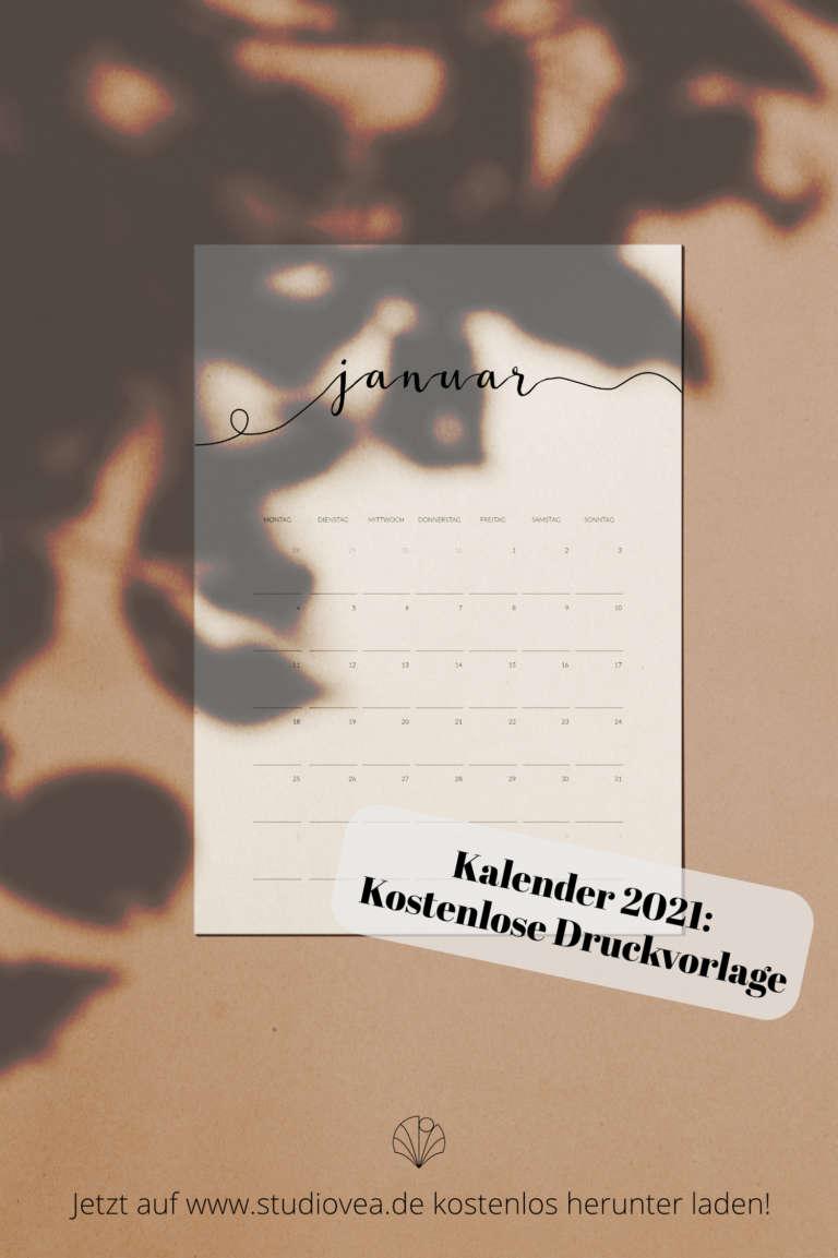 Kalender 2021 free printable druckvorlage kostenlos studiovea paulsvera 5