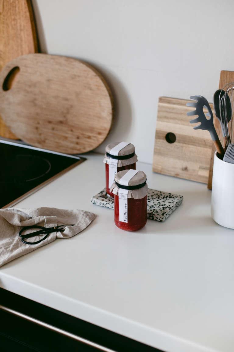 Marmeladen Etiketten zum Ausdrucken Geschenkidee Verpackungsidee selbstgemachte marmelade verpacken modern paulsvera 10