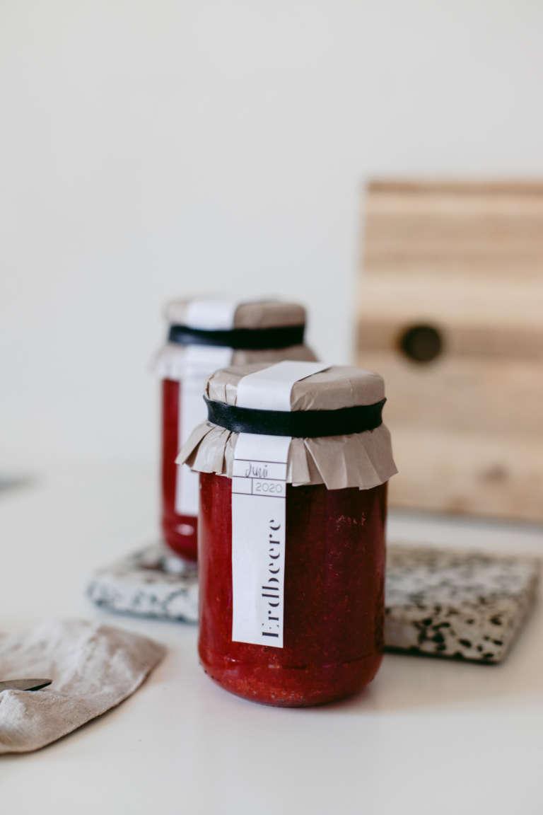 Marmeladen Etiketten zum Ausdrucken Geschenkidee Verpackungsidee selbstgemachte marmelade verpacken modern paulsvera 6