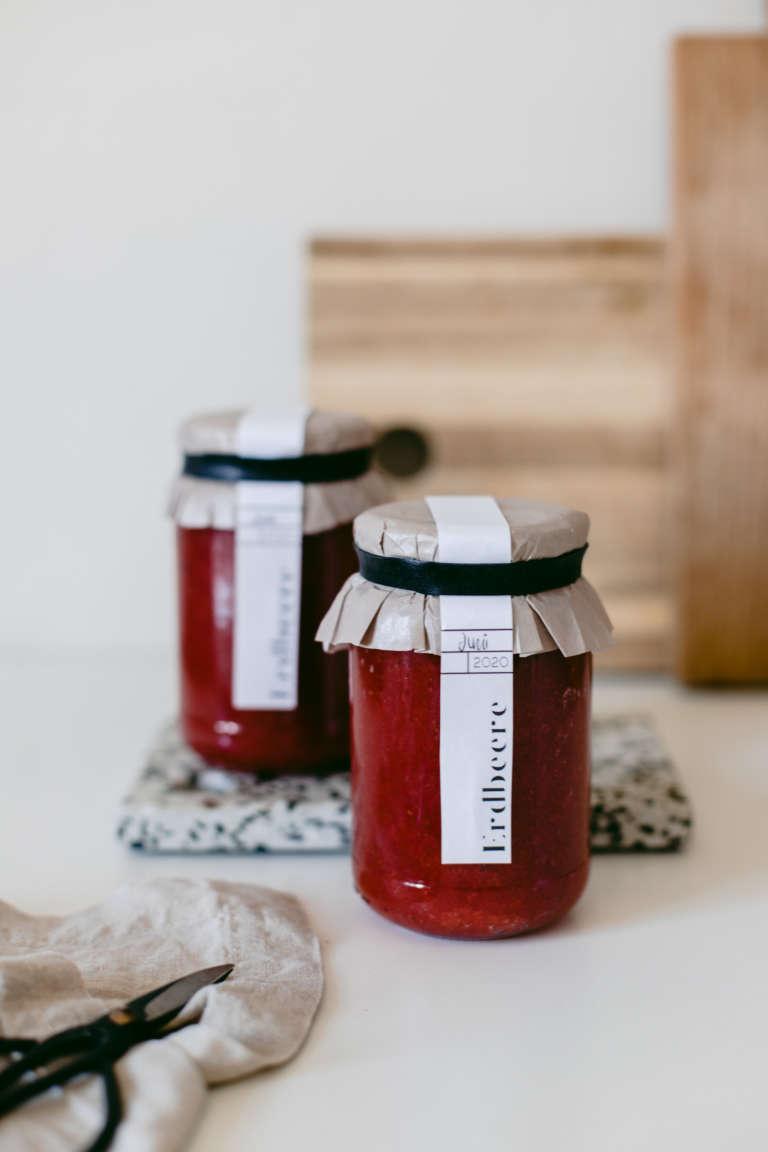 Marmeladen Etiketten zum Ausdrucken Geschenkidee Verpackungsidee selbstgemachte marmelade verpacken modern paulsvera 7