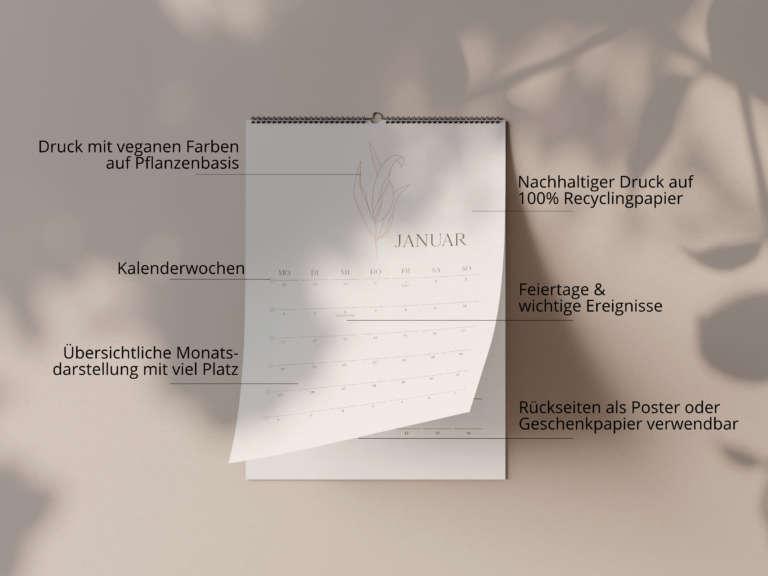 Shadow mock up kalender beschreibung