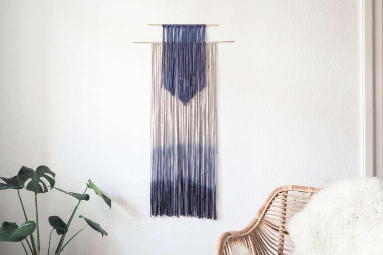 Wanddeko Selber Machen Dip Dye Fransen Makrame Diy Paulsvera 7