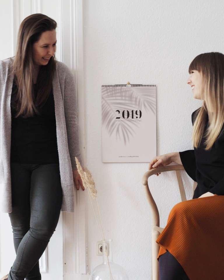 Wandkalender 2019 Familienkalender 2019 Modern Schatten Paulsvera Wohngoldstueck