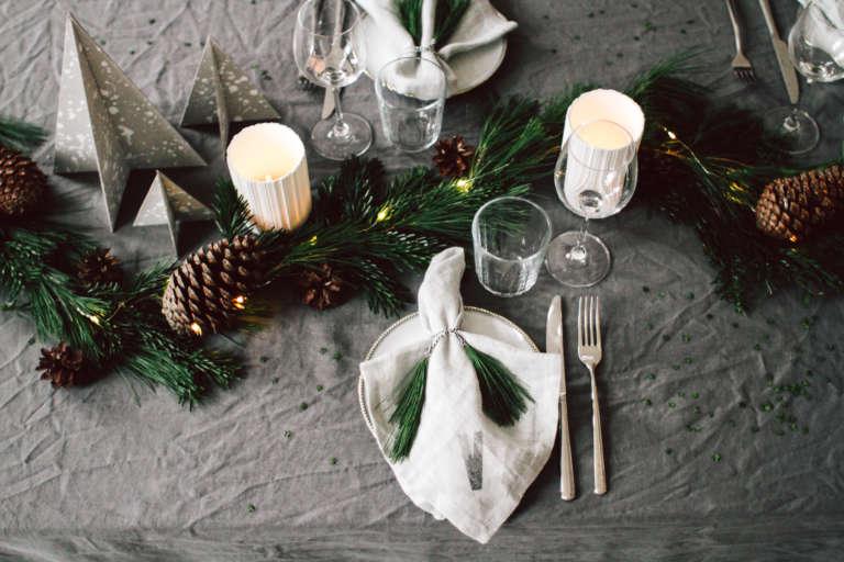 Weihnachtstisch Dekorieren Diy Ideen Weihnachtsdeko Tischdekoration Nachhaltig Paulsvera 25