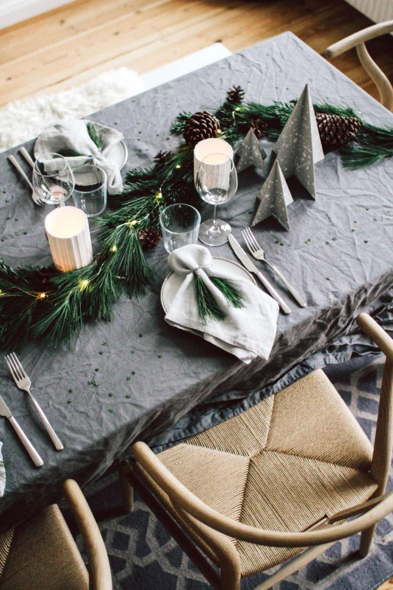 Weihnachtstisch Dekorieren Diy Ideen Weihnachtsdeko Tischdekoration Nachhaltig Paulsvera 26