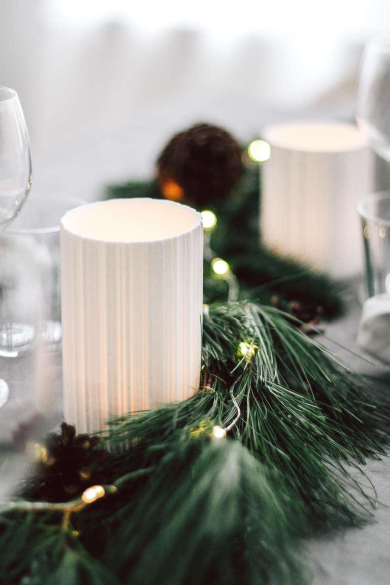 Weihnachtstisch Dekorieren Diy Ideen Weihnachtsdeko Tischdekoration Nachhaltig Paulsvera 44