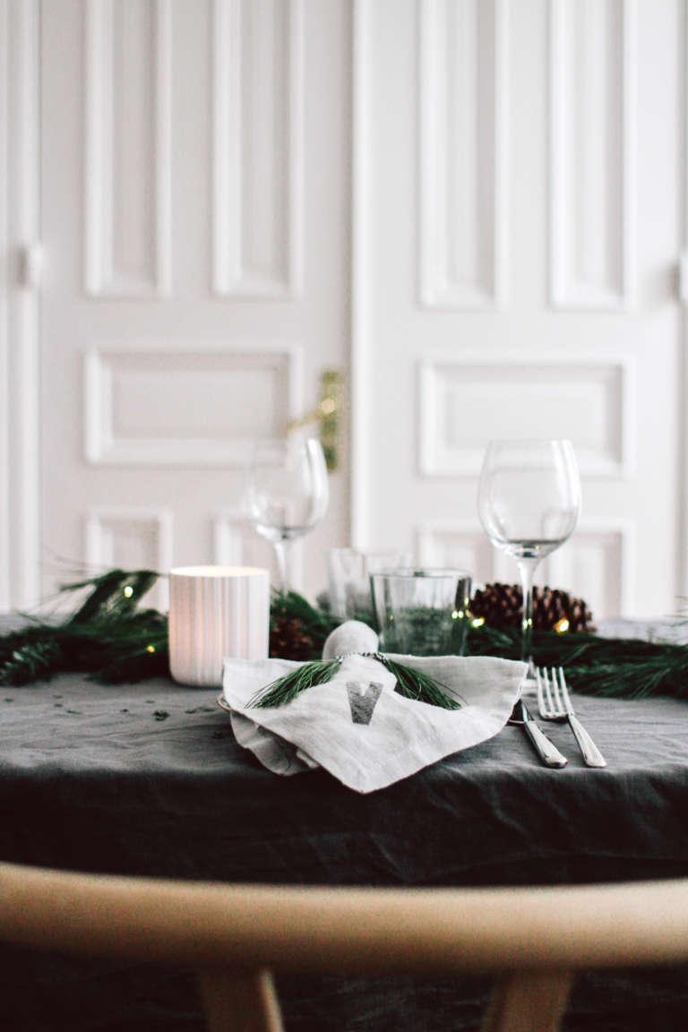 Weihnachtstisch Dekorieren Diy Ideen Weihnachtsdeko Tischdekoration Nachhaltig Paulsvera 57
