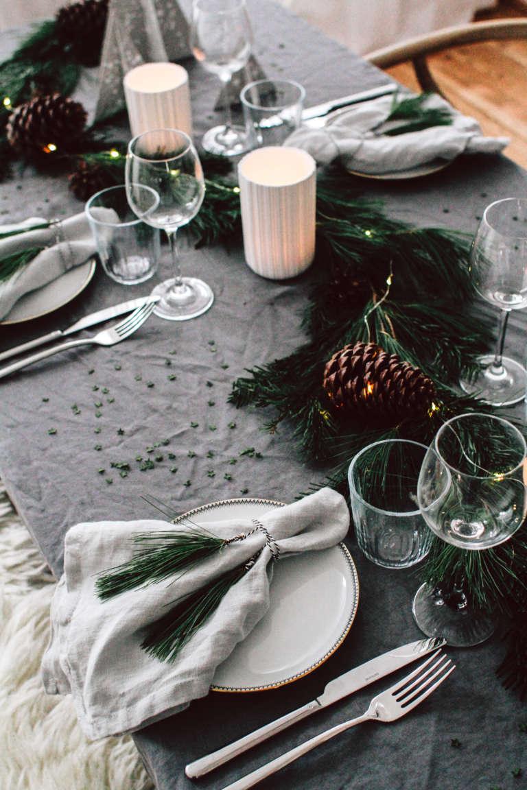 Weihnachtstisch Dekorieren Diy Ideen Weihnachtsdeko Tischdekoration Nachhaltig Paulsvera 59