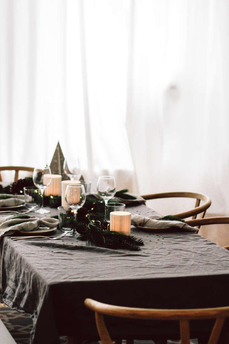 Weihnachtstisch Dekorieren Diy Ideen Weihnachtsdeko Tischdekoration Nachhaltig Paulsvera 61