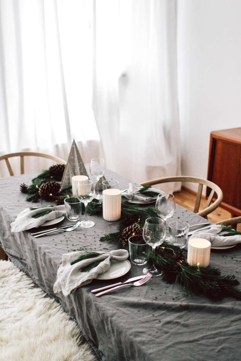 Weihnachtstisch Dekorieren Diy Ideen Weihnachtsdeko Tischdekoration Nachhaltig Paulsvera 64