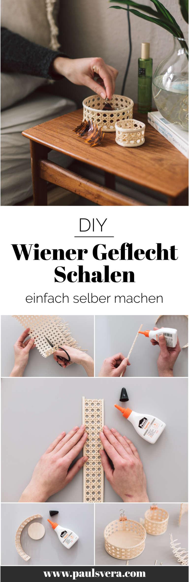 Wiener Geflecht Korb Schale Selber Machen Anleitung Diy Paulsvera