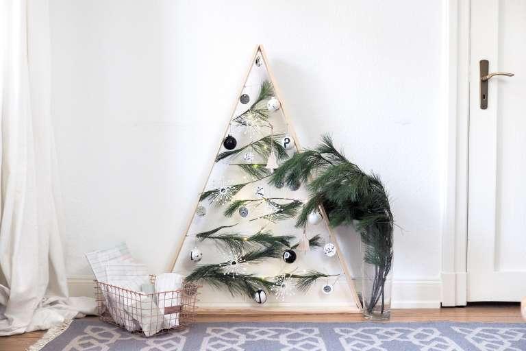 Alternativer Weihnachtsbaum Aus Holz Selber Bauen Diy Deko Weihnachten Diy Weihnachtsdeko Selber Machen Paulsvera 10