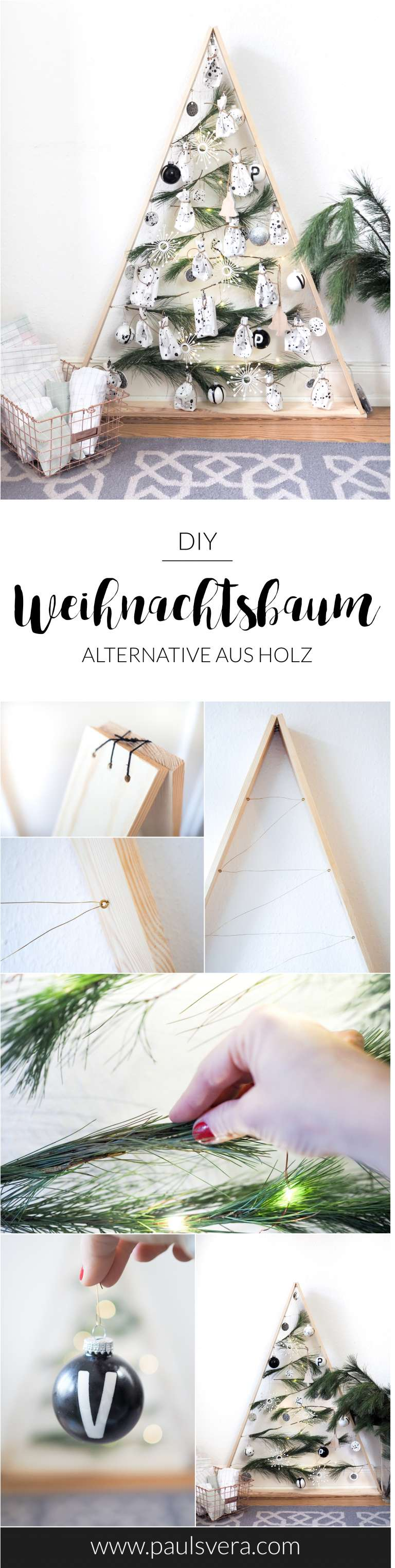 diy weihnachtsbaum aus holz obsigen. Black Bedroom Furniture Sets. Home Design Ideas